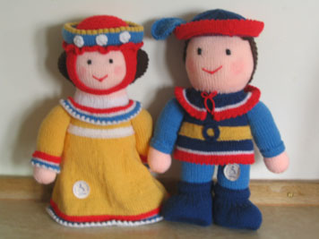 knitted prince and princess