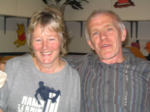 Frances Wright, our Treasurer, with Pete Dalby