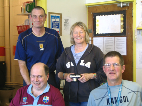 Jim Shepherd, Derek Main (Chairman), Frances Wright (Treasurer) and John Hunter.