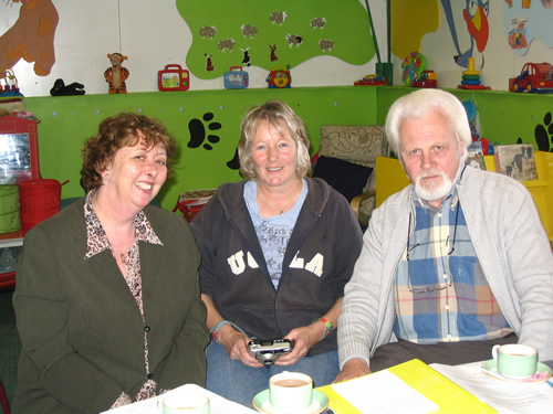 Sue, Frances Wright (Treasurer) and Ronnie